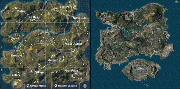 PUBG Lite Maps