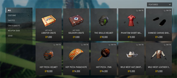 Buy High-Tier Items at the BP Shop of PUBG Lite