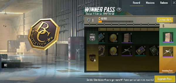 PUBG Mobile Lite Winner Pass - Battle Coins